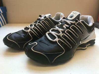 huge selection of f4786 4952a Youth Nike Air Shox NZ Sneakers, WELL WORN, Black White sz 5.5 PREOWNED