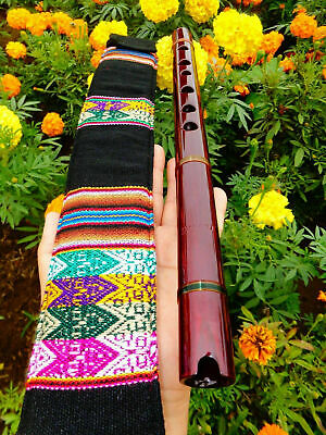 NATIVE AMERICAN STYLE FLUTE MAHOGANY  IN G 440-Hz & BAG 6 HOLES BAG Reg-$225 NEW