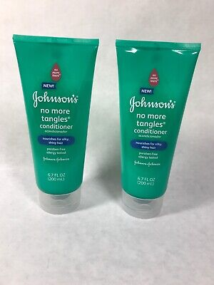 JOHNSONS No More Tangles Conditioner Paraben-Free 6.7 oz Lot of 2