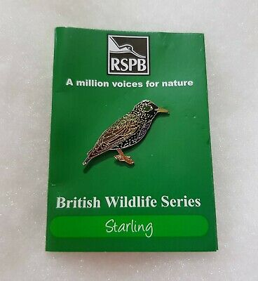 RSPB Pin Badge Starling Million Voices for Nature
