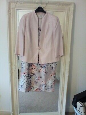 Jaques vert size 14 dress and jacket 16 in pink and floral