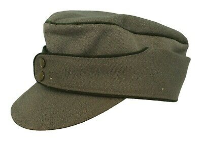 Men's Vintage Green German Military Style Peaked Hat Small