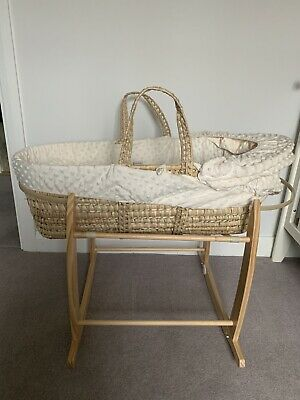 Moses basket and Rocking Stand ( Clair De Lune )