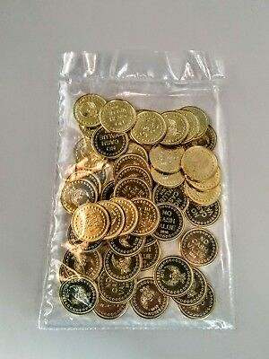 New 100 Sunbed Tokens Eagle Freedom Gold Embossed 2010 For L1 Coin Meter Timers