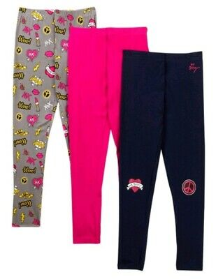 Betsey Johnson Emoji Print and Solid Leggings 2T Toddler Girls Pack of 3 NEW