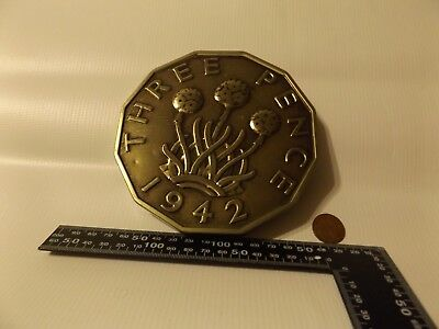 three pence 1942 king george v1 coin bank 3 very unusual item