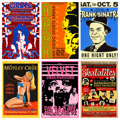 MUSIC & GIG POSTERS Rock Blues Alternative Vintage Pub Bar Shop Cafe Club Decor
