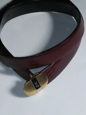 0d720836b01 Yves Saint Laurent YSL brown leather belt! Excellent condition! FAST  SHIPPING!