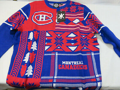 official photos 34a28 0f604 MONTREAL CANADIENS NHL Reindeer Ugly Christmas Sweater ...