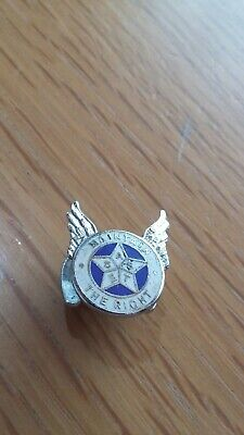 Old Vintage Maintain The Right Enamel Buttonhole Lapel Badge By Fattorini& Sons
