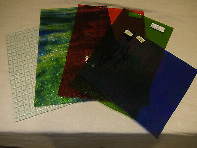 stained glass sheets various size unused