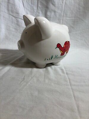 Dinosaur Piggy Bank/ Money Holder White Good Condition