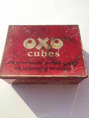 Vintage OXO cube Tin Collectors Item (well used appearance)