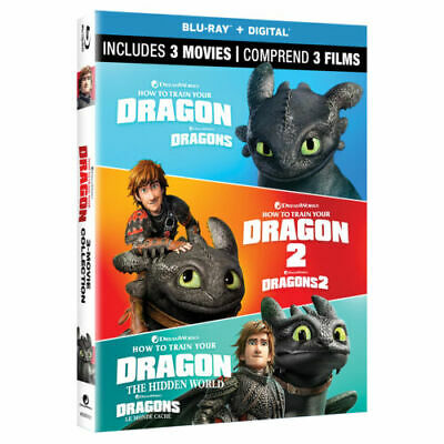 How to Train Your Dragon: 3-Movie Collection BRAND NEW! Blu-ray