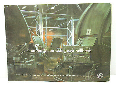 """1964 9x12"""" General Electric GE Heavy Military Electronic Dept Syracuse NY Promo"""