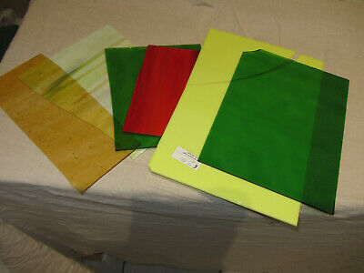 Stained glass sheets unused broken various size
