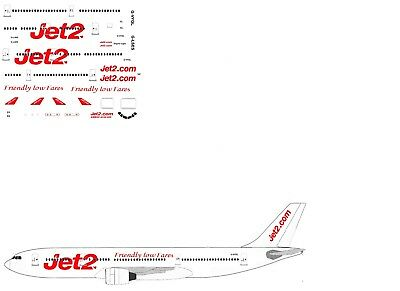 Jet2 A330-200 Model airliner Decal (1:144 scale) For Revell kit