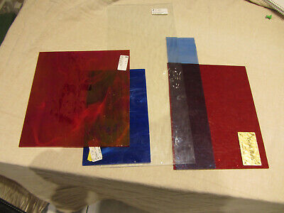 stained glass sheets various sizes unused
