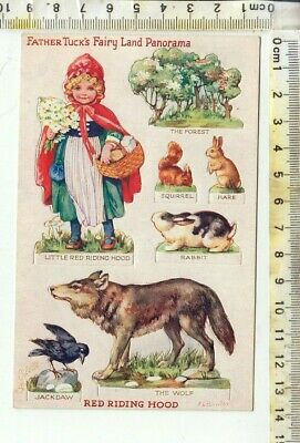 "a/s Bowley - TUCK ""OILETTE"" No. 3386 - FAIRY LAND PANORAMA - ""RED RIDING HOOD"""