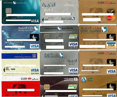 Collection of 12 bank cards & credit cards ATM cards (all expired)