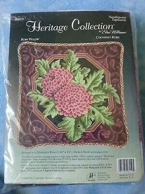Heritage Collection Needlepoint by Elsa Williams Ruby PILLOW Kit 06019