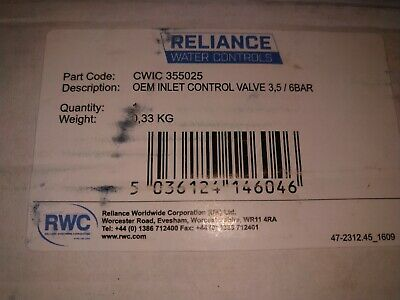 Reliance water controls. New ex stock.