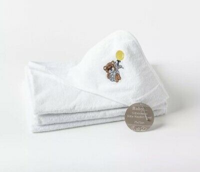 Baby Embroidered Teddy Bear Hooded Towel 75 x 75 cm 100 % Cotton