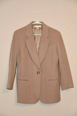 NWOT THE LIMITED car coat blazer jacket tan WOMENS M medium Cashmere Wool
