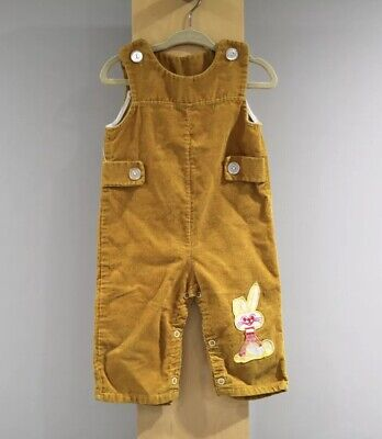 Vintage Corduroy Overalls Childs Size 12 Months Bunny
