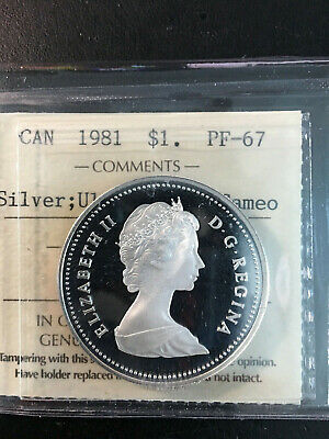 1981 Canada 'Pan-Canadian Railway' Silver Dollar Coin - ICCS PF-67 UHC