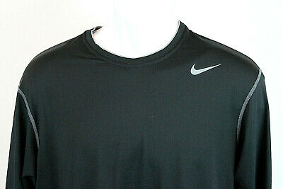 23248457a7c4d Nike Pro Dri-fit Mens XXLarge Base Layer Shirt Long Sleeve Black Compression  Tee