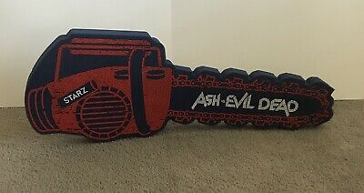 Sdcc Ash Vs Evil Dead Foam Chainsaw Red And Blue