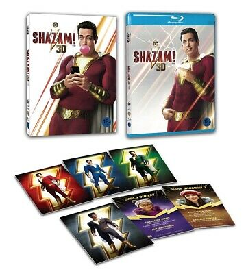 Shazam! - Blu-ray 2D + 3D Combo Edition (2019) w/ Slip Case & Character Cards