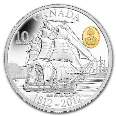 CANADA 10 Dollar 2012 Silver PF HMS 'Shannon' The Bicentennial of the War - 1812