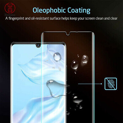 6D UV Liquid Full Tempered Glass Screen Protector For Huawei P30 Pro Mate20 Lite