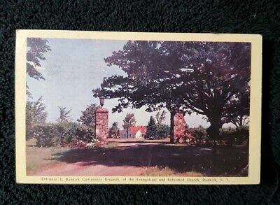 NY Dunkirk Conference Grounds The Evangelica & Reformed Church Vintage Postcard