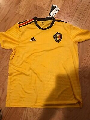 a9c4a2f83c8 Adidas Belgium Away Shirt Eden Hazard XL 2018 FIFA World Cup BNWT MSRP $90