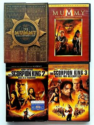 The Mummy Trilogy 1 2 3 + Scorpion King Trilogy 1 2 3  (6 DVD Set) 6 Movies