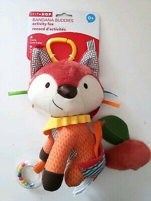 Skip Hop Bandana Buddies Baby Activity and Teething Toy - Fox - NEW