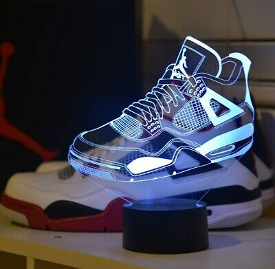 reputable site cd465 f0908  HOT  Nike Air Jordan Retro 4 Laser 3D Hologram Display Accessory FREE  SHIPPING