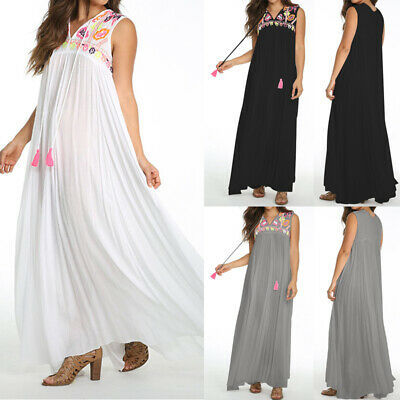 UK Women Summer Strappy Floral Maxi Cami Ladies Beach Club Party Dress Size 8-26