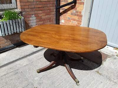 Circular Mahogany Victorian Tilt Top Circular Table