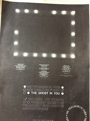 B7a Ephemera 1984 Folded Advert The Psychedelic Furs The Ghost In You