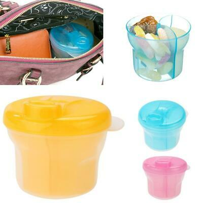 3 layer Portable Baby Food Storage Box Milk Powder Container W1H6
