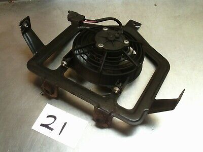 1999 Aprilia Scarabeo 125 Radiator fan with bracket *21*