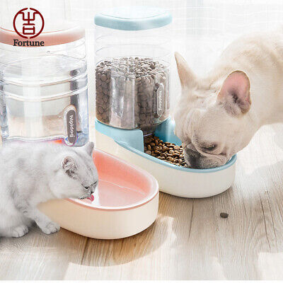 Large Automatic Pet Dog Cat Water Feeder Bowl Bottle Dispenser Plastic 3.8L