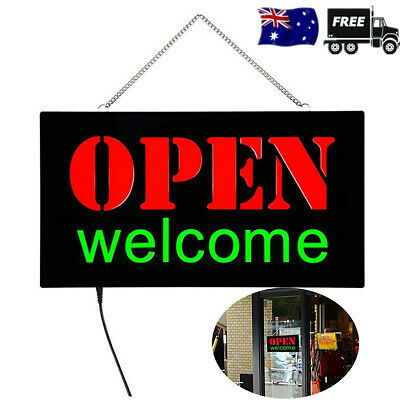 OPEN Welcome LED Sign Business Advertising Light Shop Hotel Hang Display Gift AU
