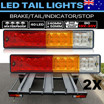 2x TRAILER LIGHTS 20 LED STOP TAIL INDICATOR REFLECTOR TRUCK CAMPER LIGHT 10-30V