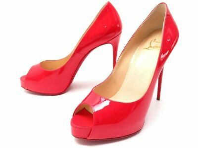 tout neuf 2debe 8214b NEUF CHAUSSURES CHRISTIAN Louboutin New Very Prive 120 37.5 38 Cuir Verni  645€