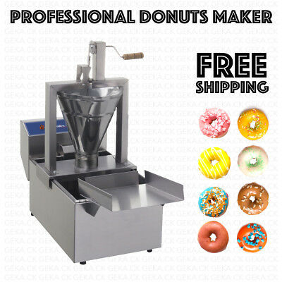 Professional Small Business Compact Donut Fryer Maker Machine 80 Pc/h + Tank